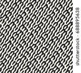 abstract distorted stroke... | Shutterstock .eps vector #688895638