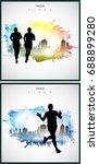 runner | Shutterstock .eps vector #688899280