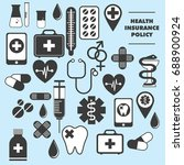 set of icons medicine and... | Shutterstock .eps vector #688900924