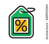illustration for the percent... | Shutterstock .eps vector #688902064