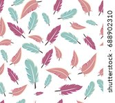 colorful pattern with feathers. ... | Shutterstock .eps vector #688902310