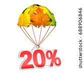 paper price tag label as twenty ...   Shutterstock . vector #688906846