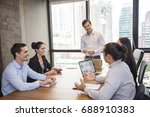 businessman standind for...   Shutterstock . vector #688910383
