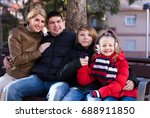 family with son and daughter... | Shutterstock . vector #688911850
