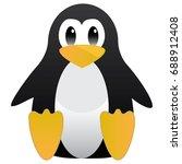 abstract cute penguin in... | Shutterstock . vector #688912408