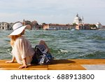 Young Girl In Venice  Italy ...