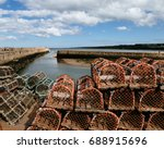 Tall Stacks Of Lobster Traps On ...