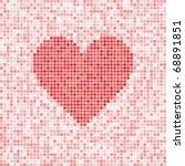 beautiful heart vector mosaic... | Shutterstock .eps vector #68891851