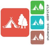 stylized icon of tourist tent.... | Shutterstock .eps vector #688919719