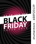 black friday super sale poster. ...   Shutterstock .eps vector #688920139