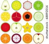 vector of fresh fruit ... | Shutterstock .eps vector #68892016