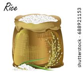 sack of rice. hand drawn... | Shutterstock .eps vector #688921153