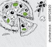 pizza | Shutterstock .eps vector #688923820