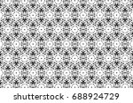 ornament with elements of black ... | Shutterstock . vector #688924729