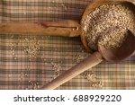 food photography. arrange of... | Shutterstock . vector #688929220