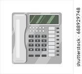 telephone vector illustration | Shutterstock .eps vector #688929748