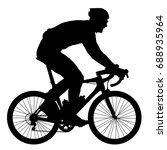 silhouette of a cyclist  vector ... | Shutterstock .eps vector #688935964