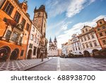 fantastic scene of the town... | Shutterstock . vector #688938700