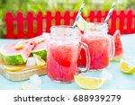 watermelon juice | Shutterstock . vector #688939279