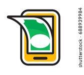 icon illustration for mobile... | Shutterstock .eps vector #688939984