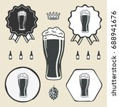 beer glass icon iweb sign... | Shutterstock .eps vector #688941676