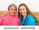 photo of elderly woman and... | Shutterstock . vector #688944688