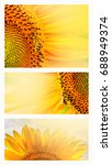 summer web banner or... | Shutterstock . vector #688949374