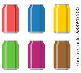 soda aluminium can set vector... | Shutterstock .eps vector #688949500