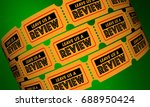leave us a review feedback... | Shutterstock . vector #688950424