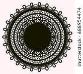 silhouette of lace doily... | Shutterstock . vector #688954474