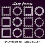 set of openwork round and... | Shutterstock . vector #688956154