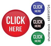 click here round website glossy ... | Shutterstock .eps vector #688959724