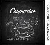 hand drawn coffee illustration... | Shutterstock .eps vector #688960444