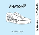 isolated shoe sketch and... | Shutterstock .eps vector #688962490