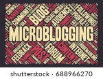 conceptual vector of tag cloud... | Shutterstock .eps vector #688966270