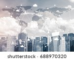 modern cityscape with buildings ... | Shutterstock . vector #688970320