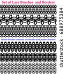 laces brushes and borders set... | Shutterstock .eps vector #688975384