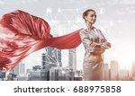 young confident businesswoman... | Shutterstock . vector #688975858