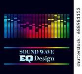 music design. abstract... | Shutterstock .eps vector #688981153