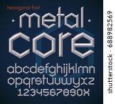 hexagonal futuristic metallic... | Shutterstock .eps vector #688982569