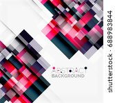 abstract blocks template design ... | Shutterstock . vector #688983844
