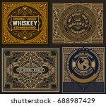 set of old labels | Shutterstock .eps vector #688987429