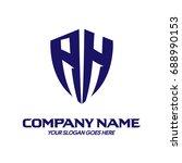 ah logo | Shutterstock .eps vector #688990153