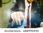 businessman on blurred... | Shutterstock . vector #688990450