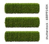 3d rendering of buxus... | Shutterstock . vector #688991404