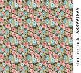 seamless abstract floral... | Shutterstock .eps vector #688991869