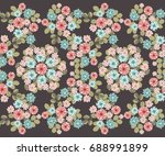 seamless abstract floral border ...   Shutterstock .eps vector #688991899