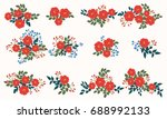 floral arrangements in small... | Shutterstock .eps vector #688992133
