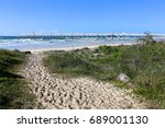 Small photo of Sandy beach access track at Letitia Spit in northern NSW Australia