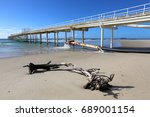 Small photo of Driftwood on the beach near the sand bypass system at Letitia Spit in northern NSW Australia